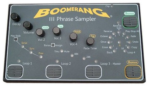 Boomerang III Looper Pedal Front View