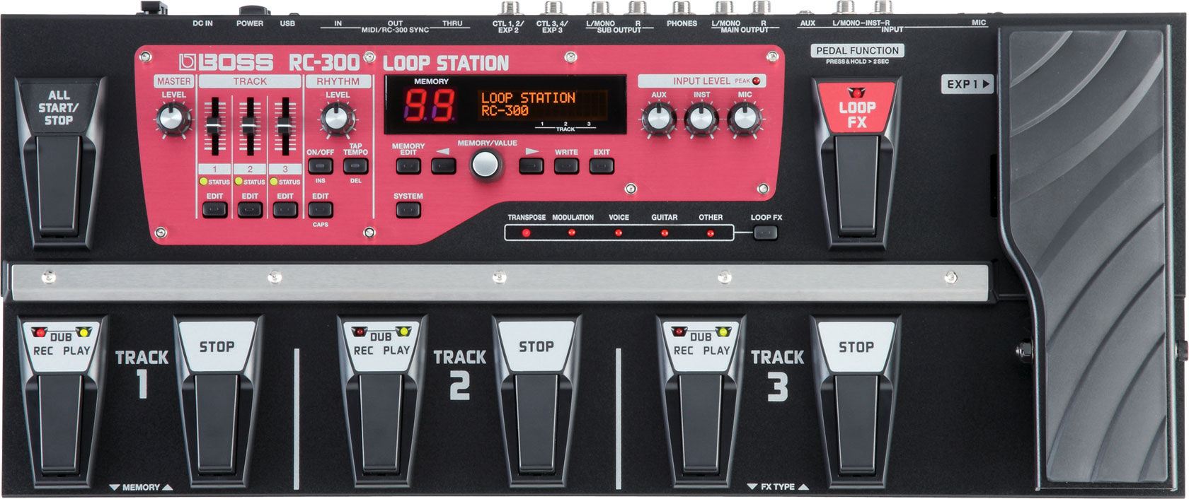 loop station review of the boss rc 300 looper pedal. Black Bedroom Furniture Sets. Home Design Ideas