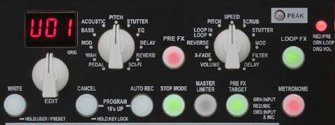 Vox Dynamic Looper controls