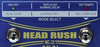 Akai Headrush Modes